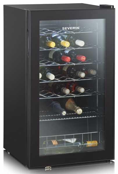 SEVERIN Weintemperierschrank schwarz, 95 Liter