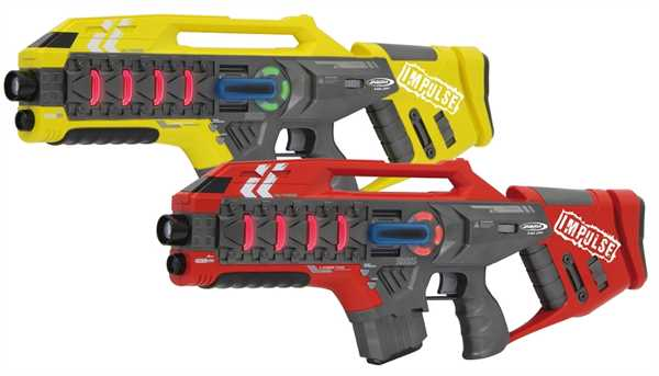 JAMARA Impulse Laser Gun Rifle Set Gelb/Rot