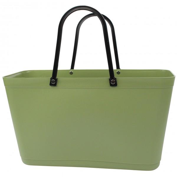 PERSTORP DESIGN Sweden BAG - Large - Green Plastic, Bio Plastic aus Zuckerrohr, Nature green