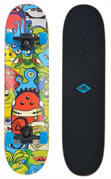 "SCHILDKRÖT Skateboard Slider 31"" Monsters"