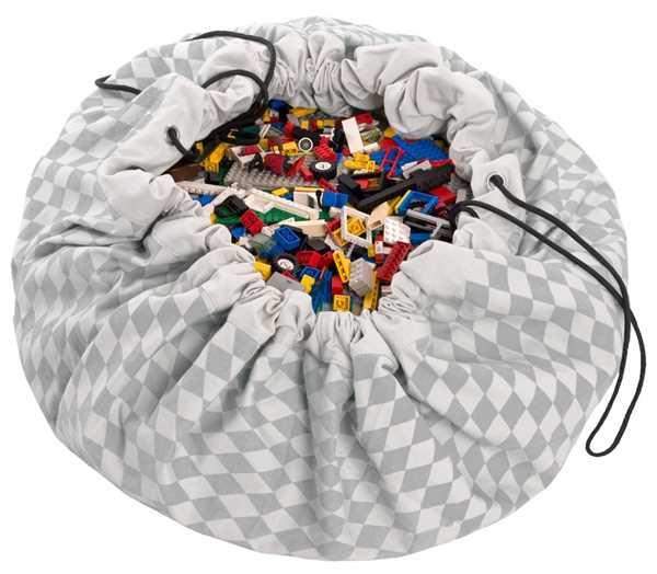 PLAY AND GO Spielzeugdecke/Spielzeugsack, Grey D