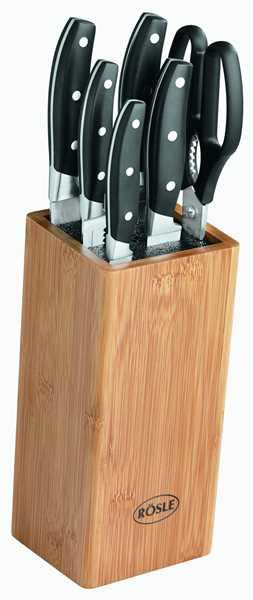 RÖSLE Bürsten-Messerblock 7-tlg.inkl. Küchenschere