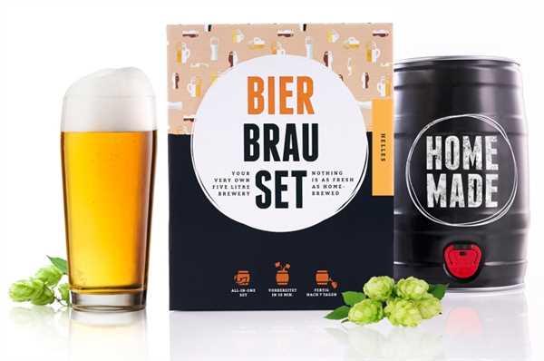"BRAUFÄSSCHEN Bier Brau Set ""Helles"""