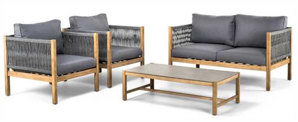 SUNS BALI Sofa Set 4-teilig - GREY