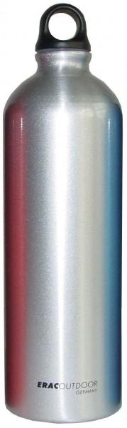 ERAC outdoor Alu-Flasche 1 Liter - Silber